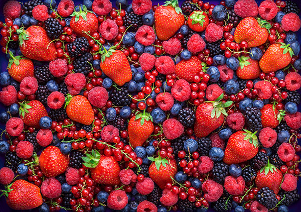 Lipedema diet consists of dark colored fruits