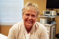 emotions from getting lipedema liposuction | photo of Denise Bennett before surgery